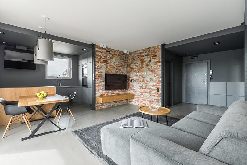 beton dekoracyjny w mieszkaniu